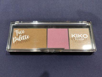 Kiko Face palette with highlighter/blush/contour