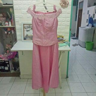 Gaun pink/ gaun pesta/ gown