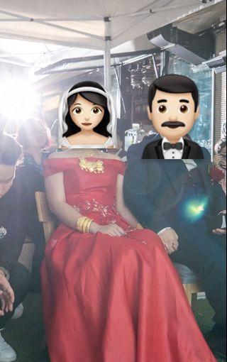 結婚物資 新娘晚裝 紅色敬酒晚裝