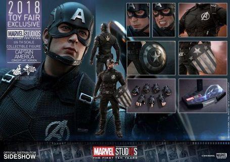 全新啡盒未開Hottoys 美國隊長Captain America Concept Art Version 10週年限定版 MMS488