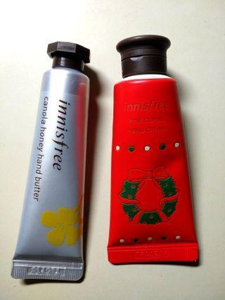 Innisfree Hand Cream and Hand Butter