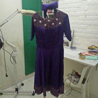 Dress pesta/ gaun pesta/ gaun ungu