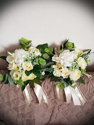 Wedding flowers, bridesmaids bouquet, artificial flowers