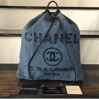Chanel Denim Bucket Backpack