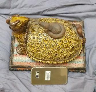 舊中國陶瓷神龟。
