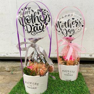 """Mother Day 2019_5"""" Customised Balloon in a pot (dried flower)"""