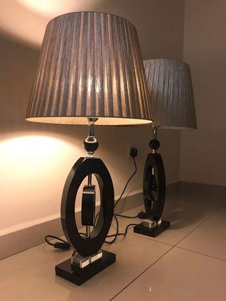 Twist Glass Table Lamp (One Pair)