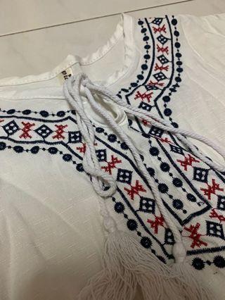 Cute Female White Bohemian Top