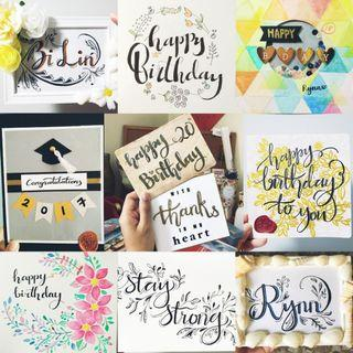 Handmade Calligraphy Cards