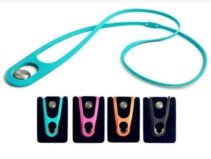 🚚 矽膠手機掛頸繩 掛繩 手機扣環