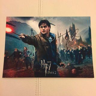 ⚡️Harry Potter 哈利波特 親筆簽名相 Daniel Radcliffe Hand Signed Autograph Rare A4 size photo of Deathly Hallows Part 2