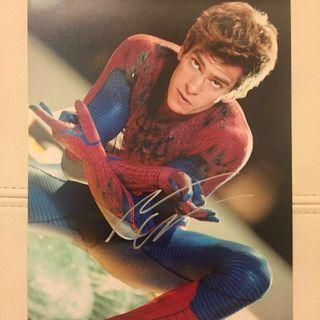 Andrew Garfield 親筆簽名 The Amazing Spider-Man Emma Stone Marvel Superhero