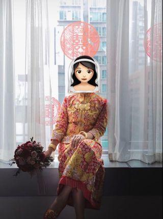 結婚物資 中式裙褂 大五福