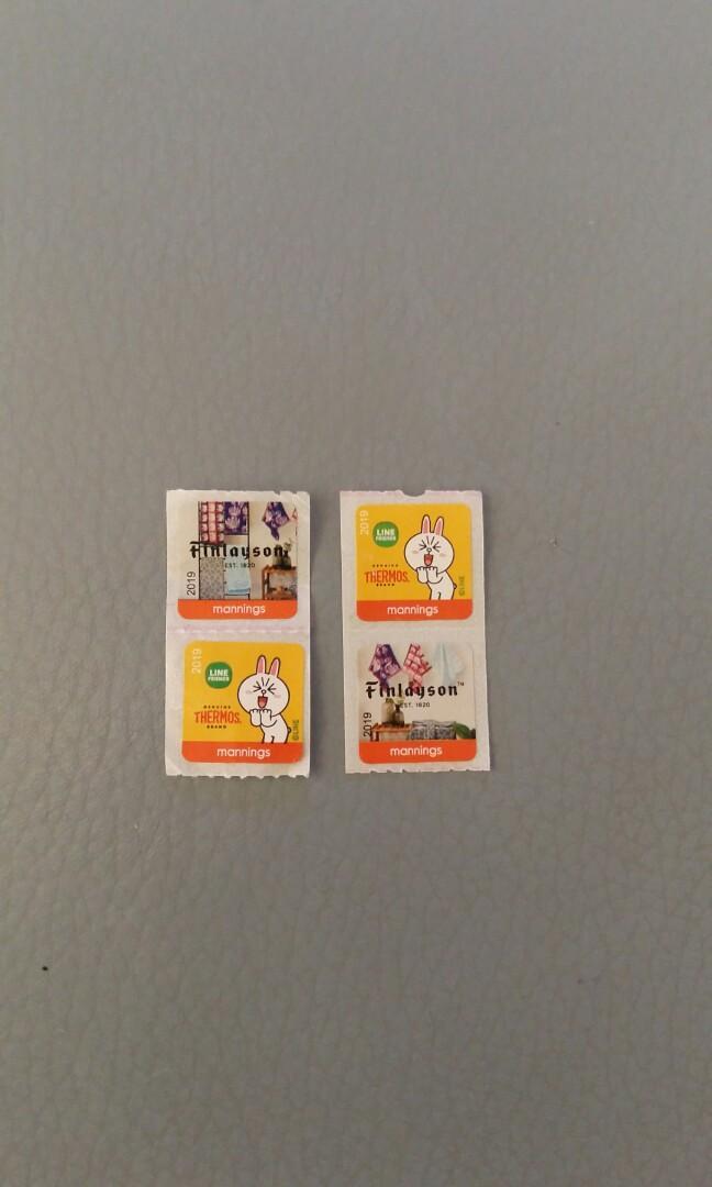 包郵萬寧印花4個 Mannings Stamps 4ps Included Postage