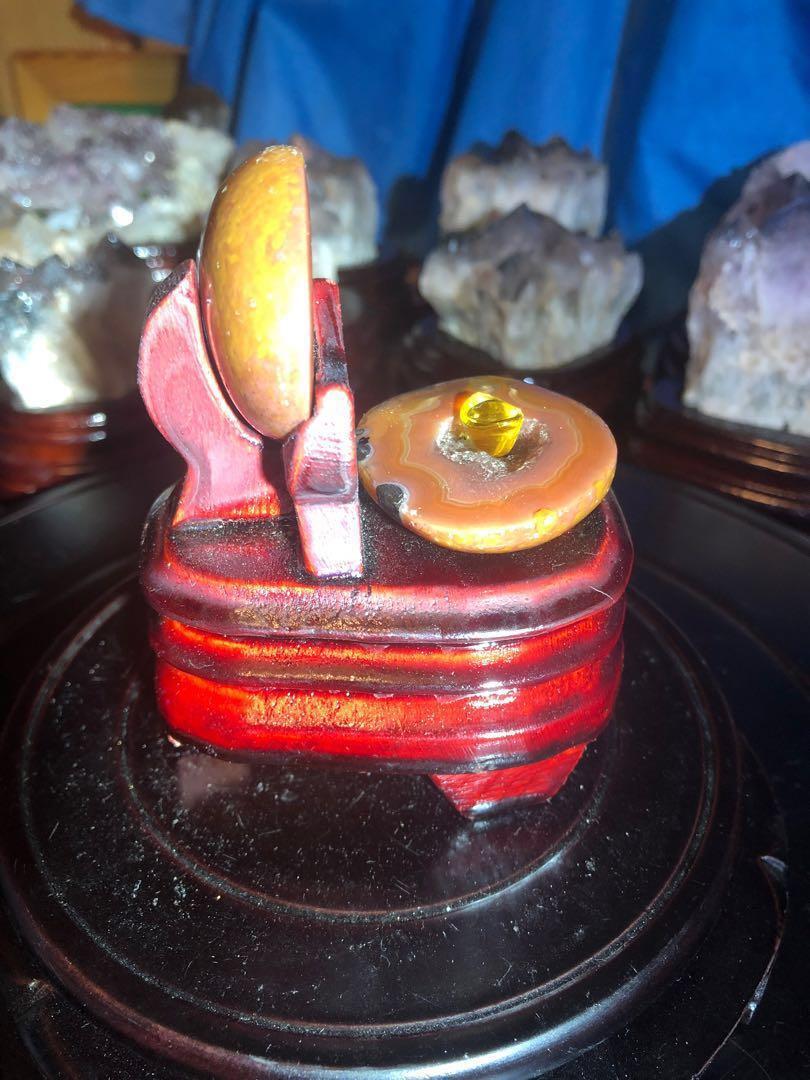 戰國紅瑪瑙聚寶盆附訂製木座