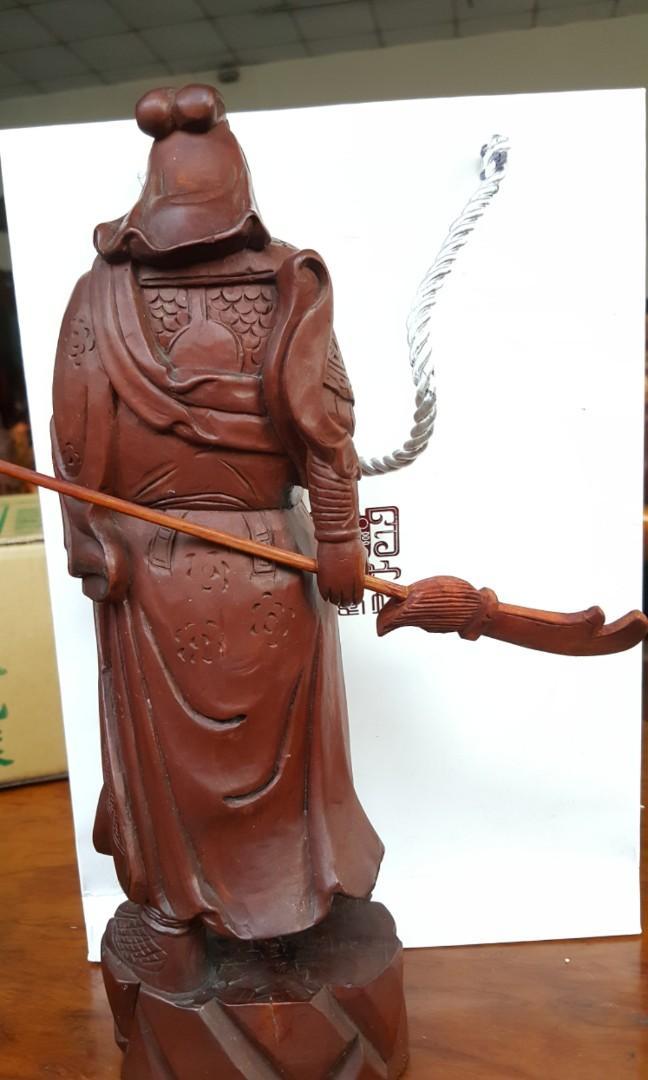 木雕關公像,關老爺,關羽