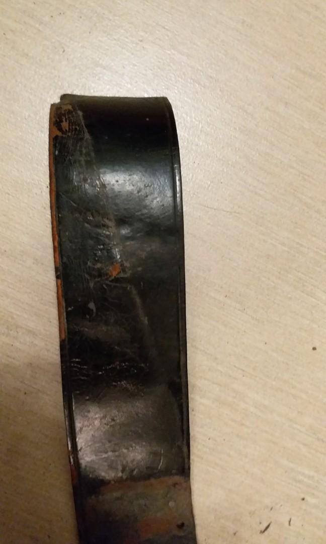古董消防員皮帶,無扣。