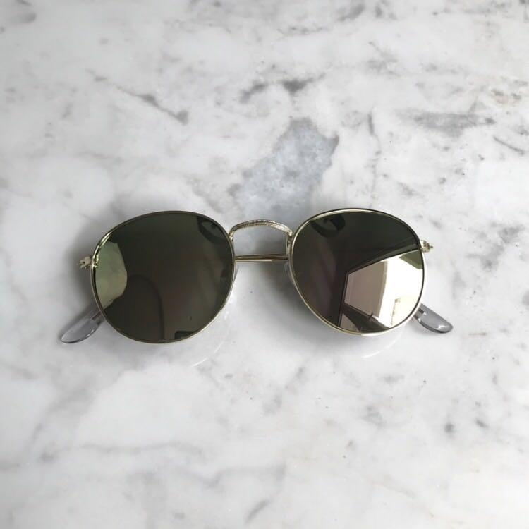 🌝 Kacamata Lensa Warna Mirror Bingkai Metal untuk wanita / Mirror Sunglasses for Women 🌝