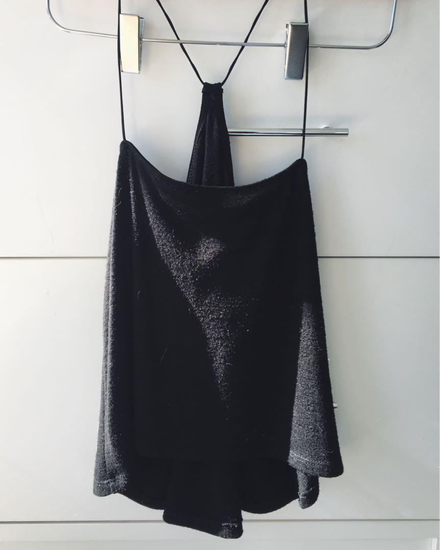 Aritzia Knit Black Tank