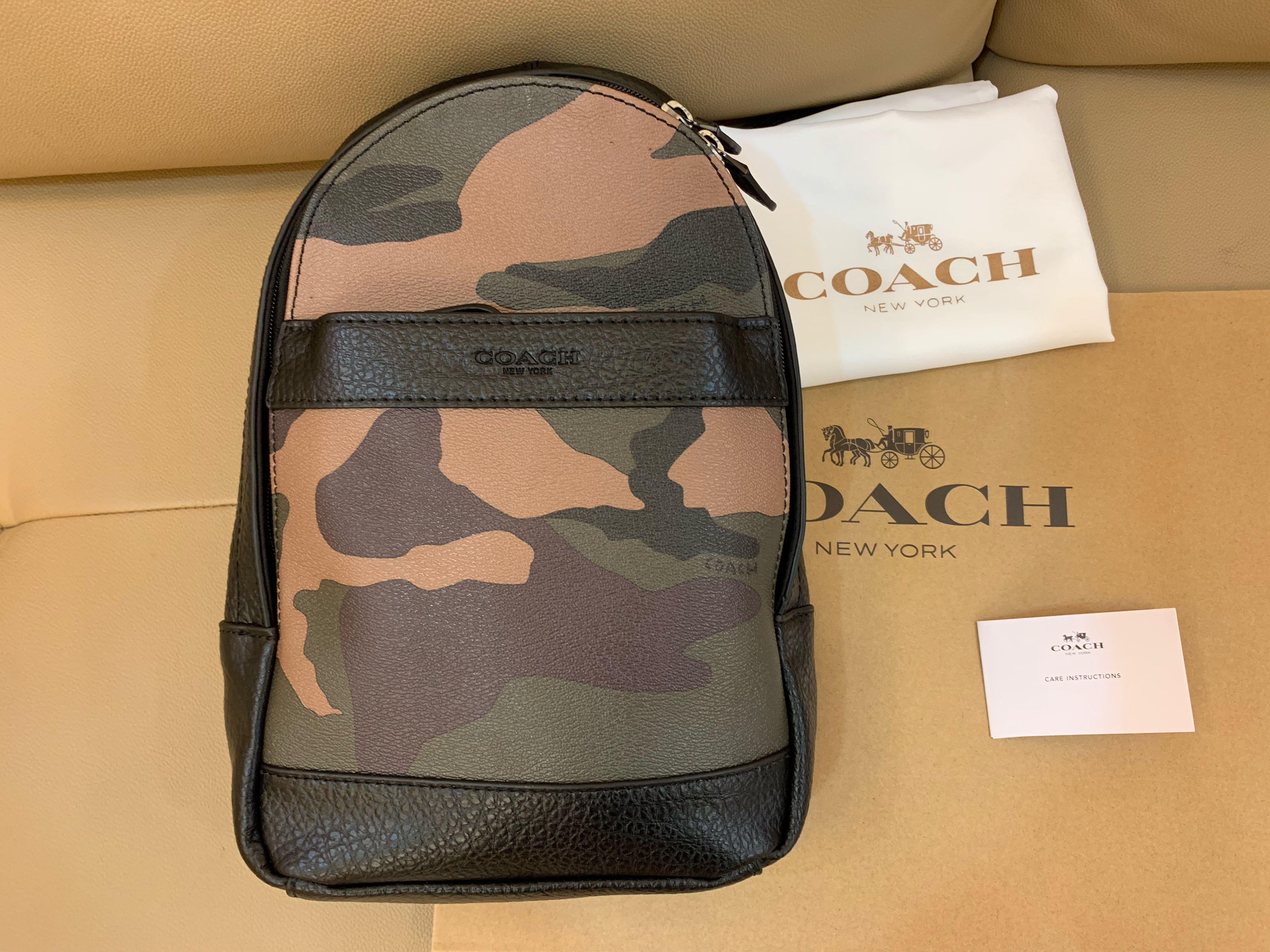Authentic Coach men 29713 chest bag crossbody bag