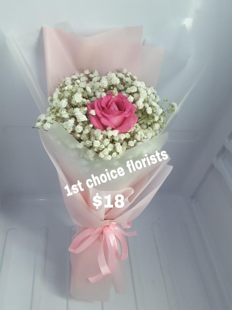 Baby Breath Bouquet with cotton