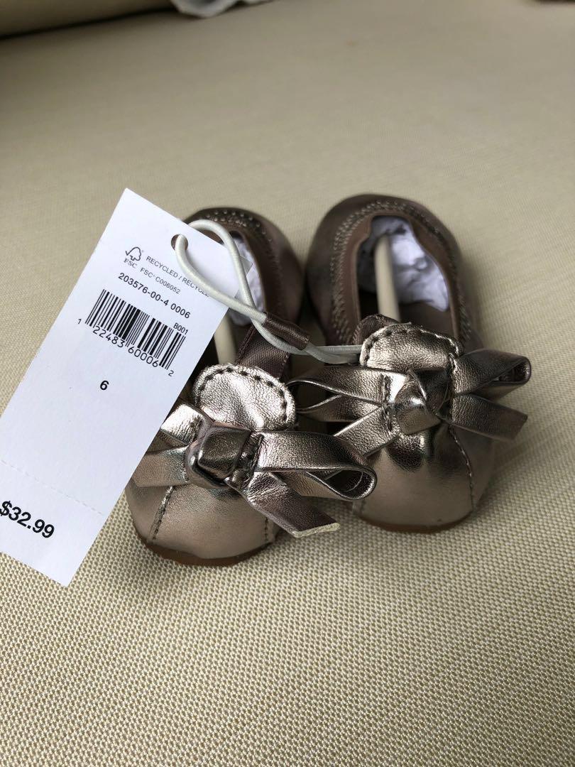 Baby Gap Shoes Size US6 silver grey color