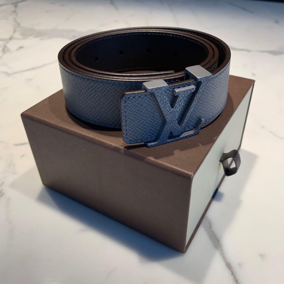 b3062160e03e BRAND NEW Louis Vuitton Grey Initiales Belt