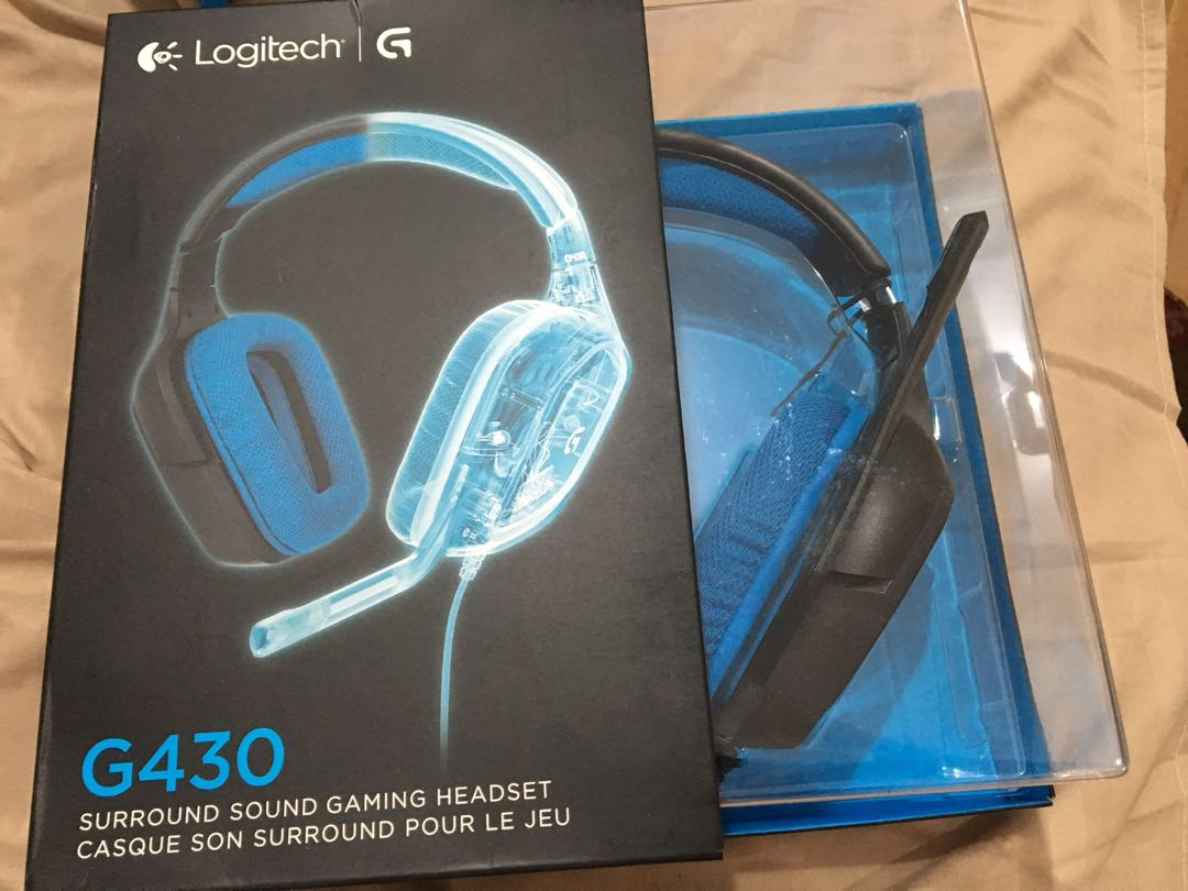 531db3e4afb Brand New Sealed in Box Logitech G430 7.1 DTS Headphone: X and Dolby Surround  Sound Gaming Headset for PC, Playstation 4 – On-Cable Controls ...