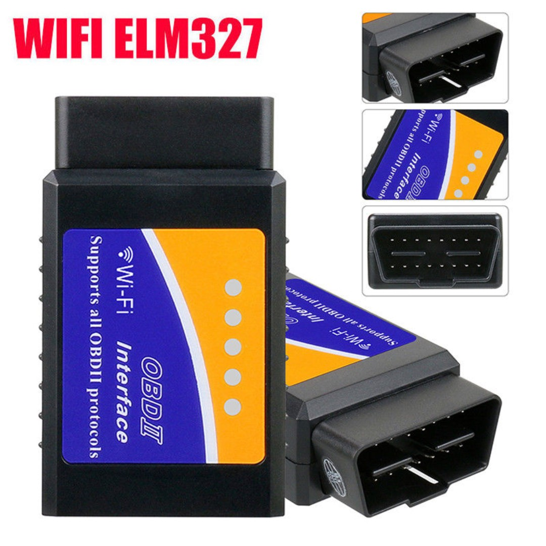 (F212) Car ELM327 WIFI OBD2 Scanner Engine Fault Code Reader Reset Adapter  for iPhone IOS Android Windows,Auto Check Engine Light Clear OBDII