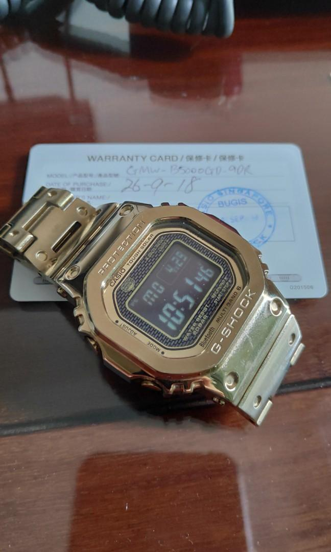 G shock B5000 gold