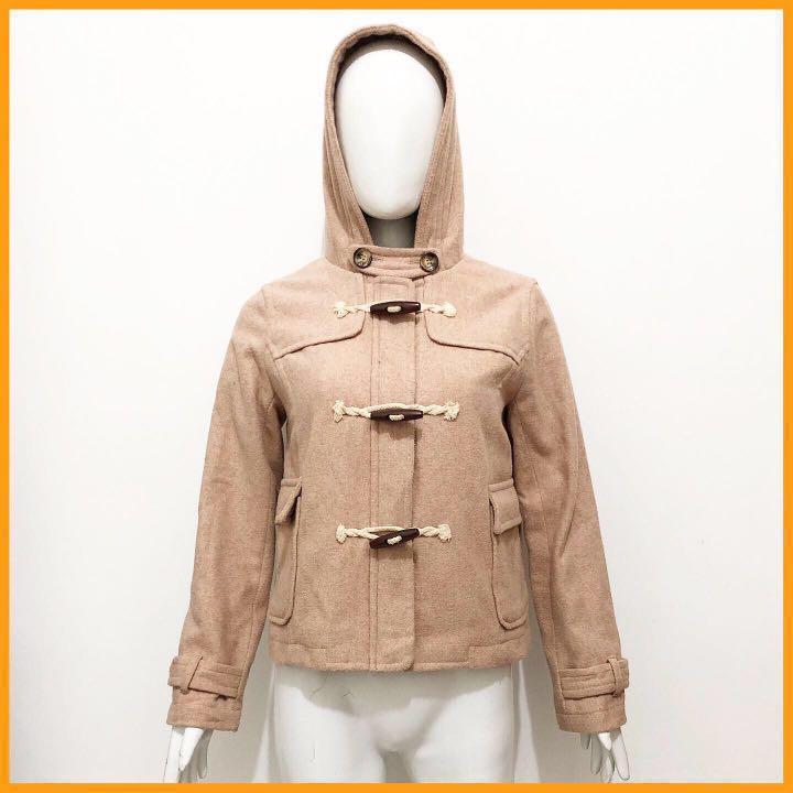 Japan Beige duffle wool coat / jacket