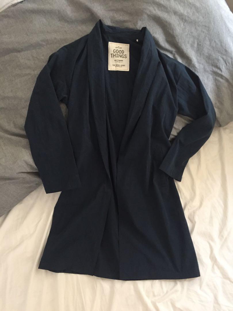 Japan navy belted dress / coat