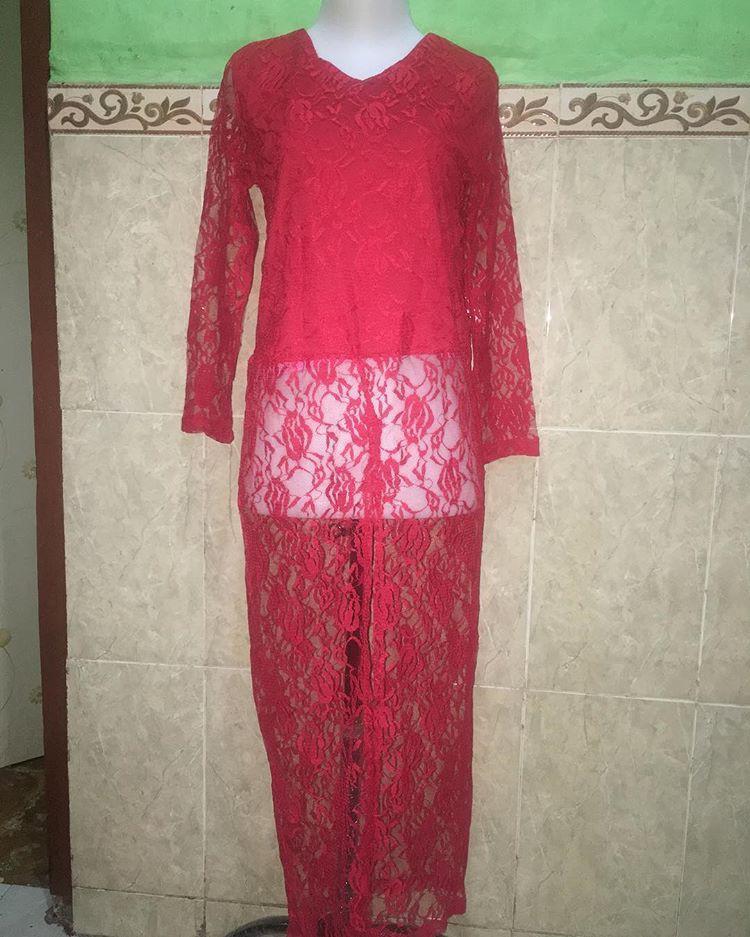 Kebaya Brokat long dress outer