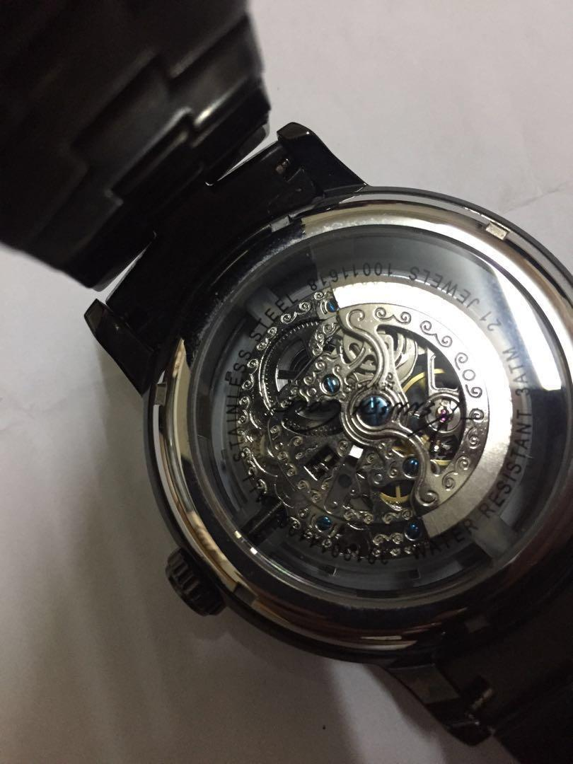 Kenneth Cole 機械錶 鏤空 IP黑電鍍 不銹鋼 45mm 男錶