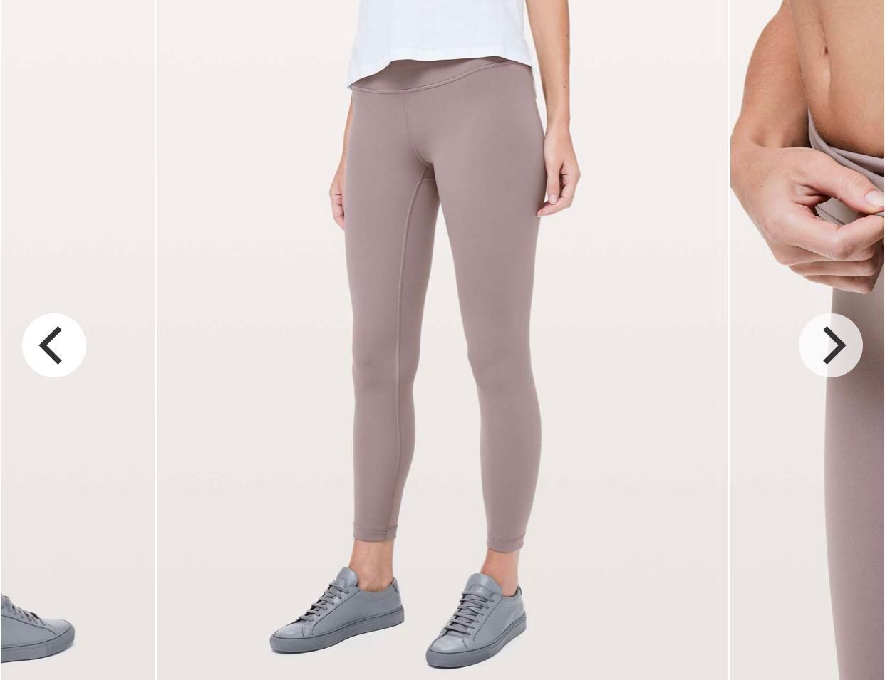 "9ca9f1c6bd Lululemon wunder under HR high rise 7/8 tight 25"" in lunar rock, Sports,  Sports Apparel on Carousell"