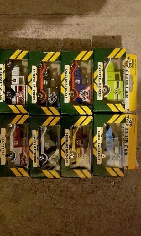 Matchbox Australian rugby league club car collection