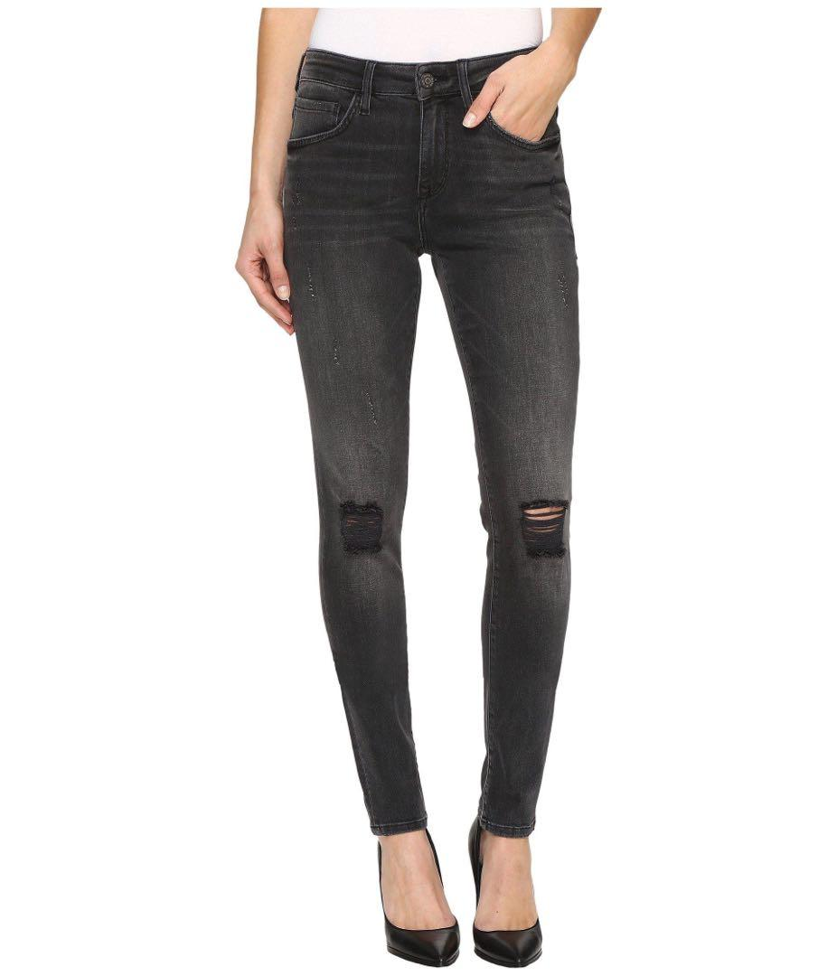 Mavi Alissa Mid Grey Skinny Jeans Size 24 (Pick Up Only)
