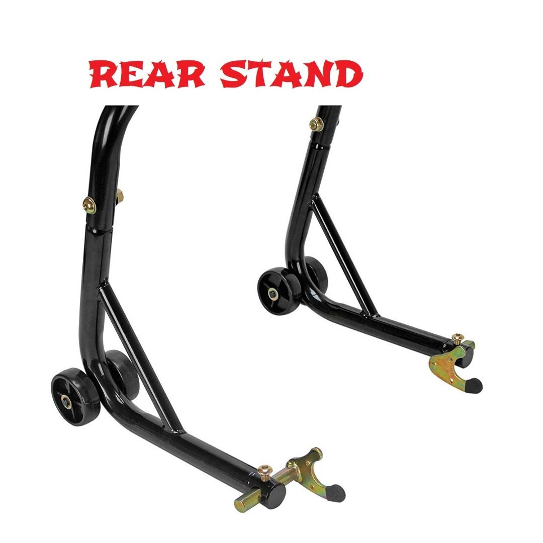 Motorcycle Paddock Stand Front & Rear Bike Lift Stand Jack Racing DIY Storage Equipment