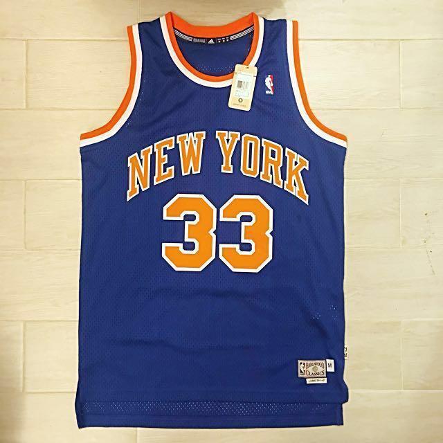 ee4e73ffe New Adidas NBA hardwood classics New York Knicks Patrick Ewing swingman  jersey size M