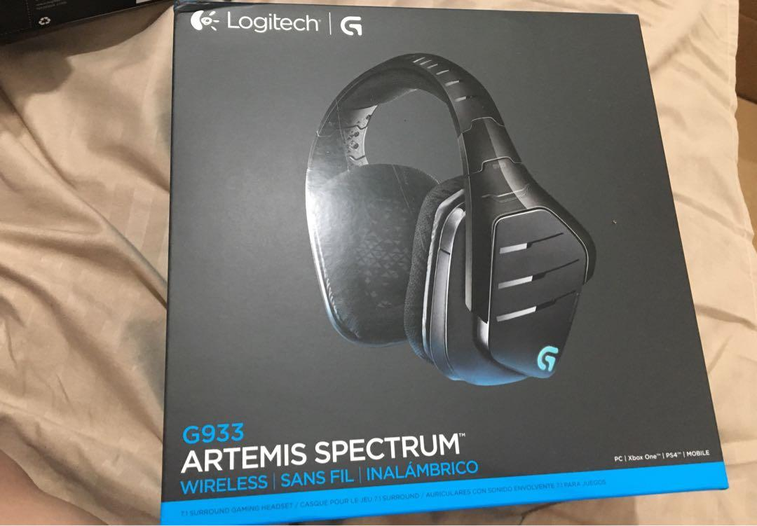 New Authentic In Box Logitech G933 Artemis Spectrum Wireless Rgb 7 1 Dolby And Dts Headphone Surround