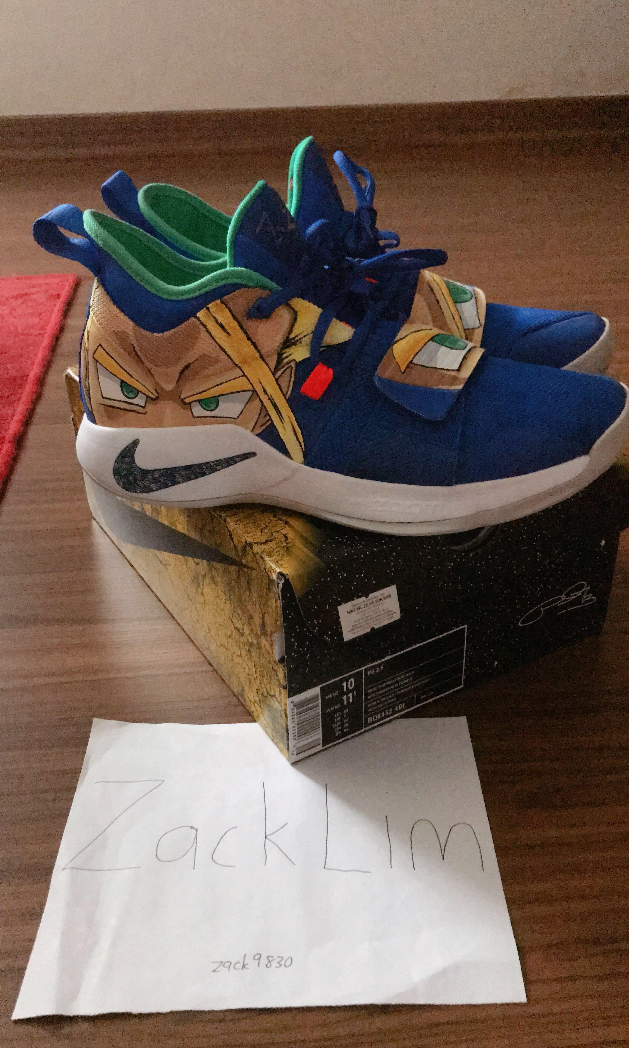 "Nike PG 2.5 customize "" Gohan"" by shoemo"