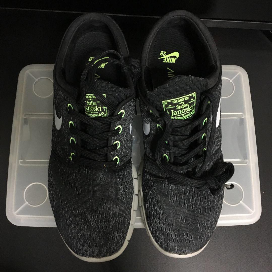 Colibrí cobertura pantalla  Nike SB Stefan Janoski Max - Black/Wolf Grey/Flash Lime, Men's Fashion,  Footwear, Sneakers on Carousell