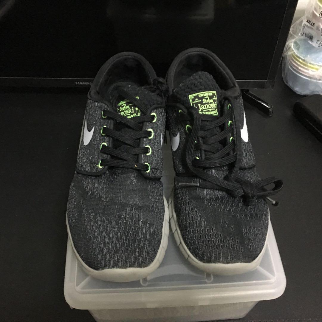 Nike SB Stefan Janoski Max BlackWolf GreyFlash Lime
