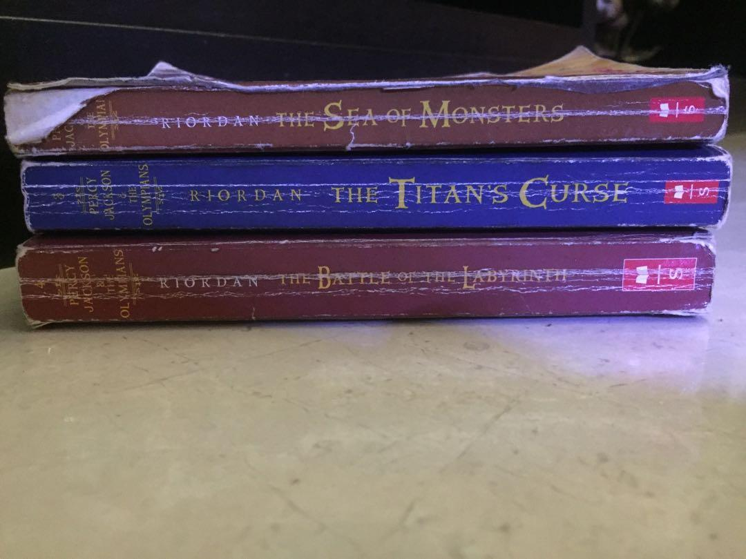 Percy Jackson sea of monsters, the titan's curse, the battle of the labyrinth