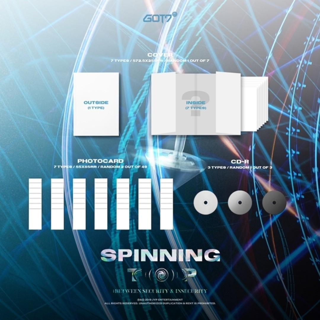[Pre-order] GOT7 갓세븐 - SPINNING TOP (SECURITY ver.    INSECURITY ver.    & ver.)