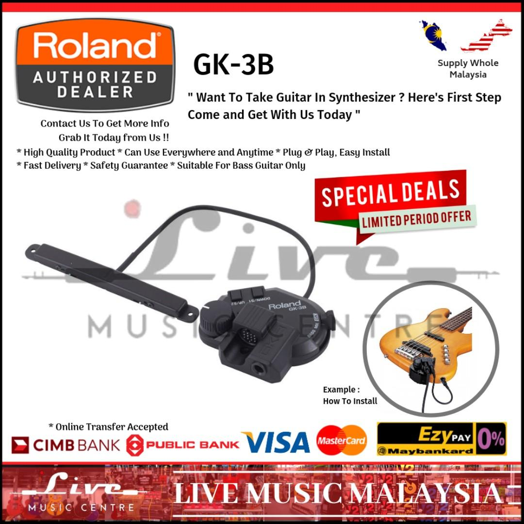 Roland GK-3B Divided Guitar Pickup for Bass (GK3B/GK3/GK-3)
