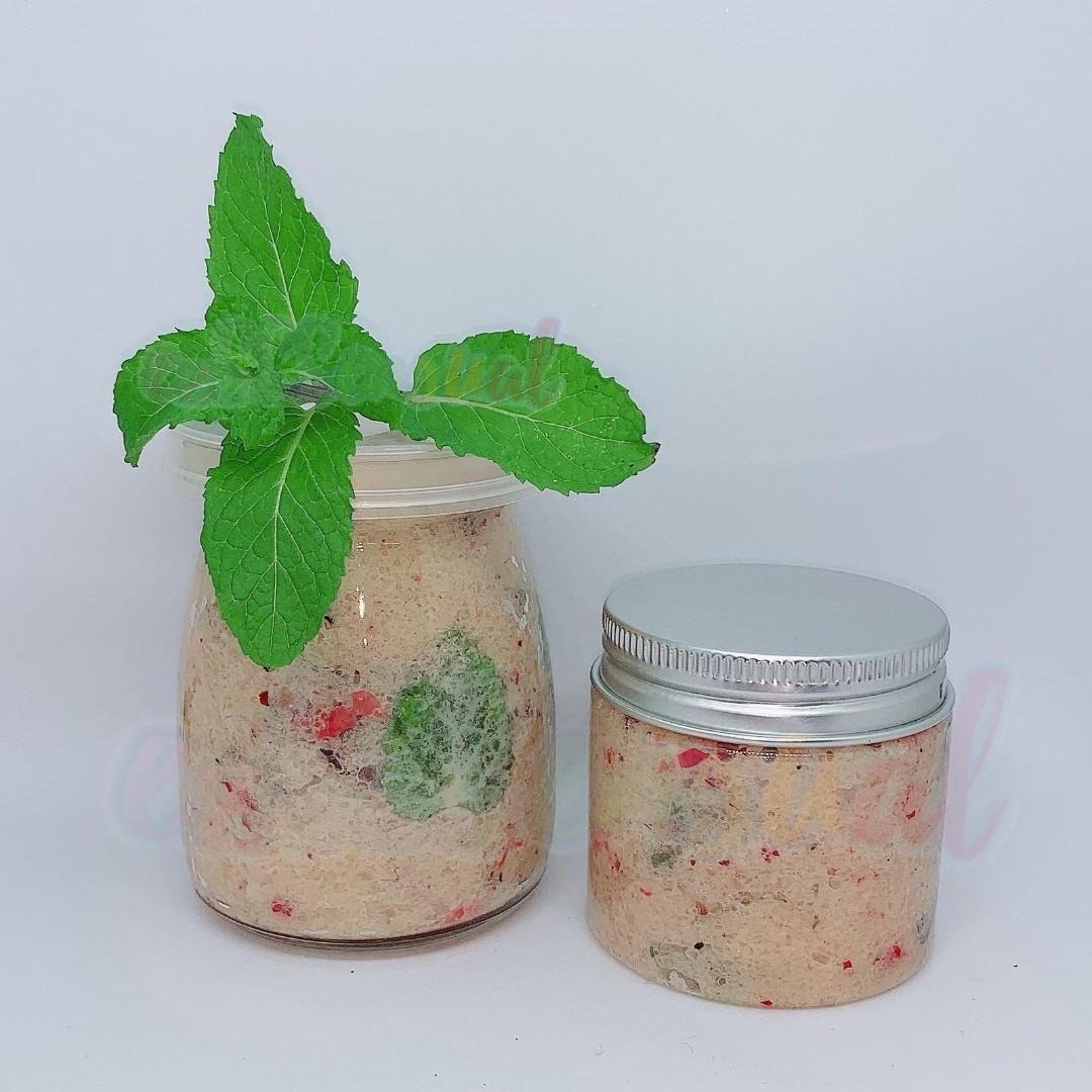 Rose + Lemonbalm Body Scrub Exfoliator