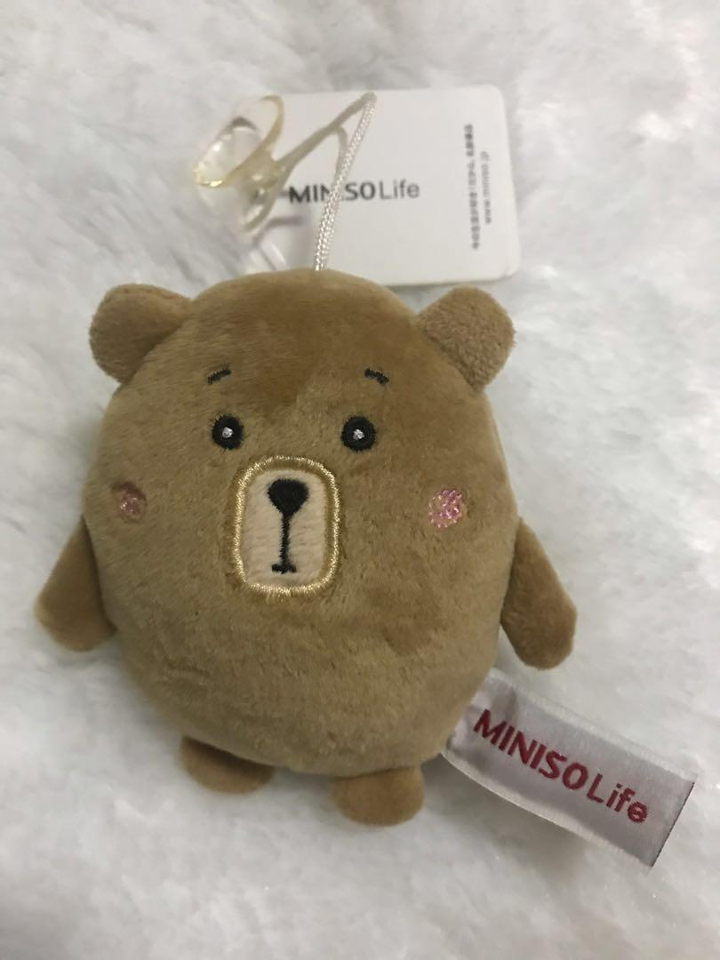 Round bear plush toys - hanging dolls