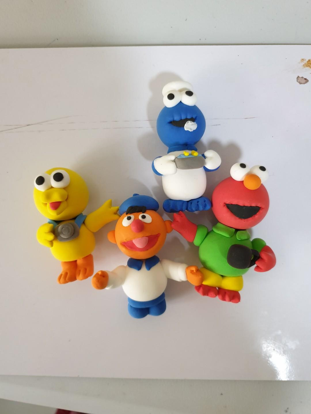 Sesame street cake toppers - air dry clay
