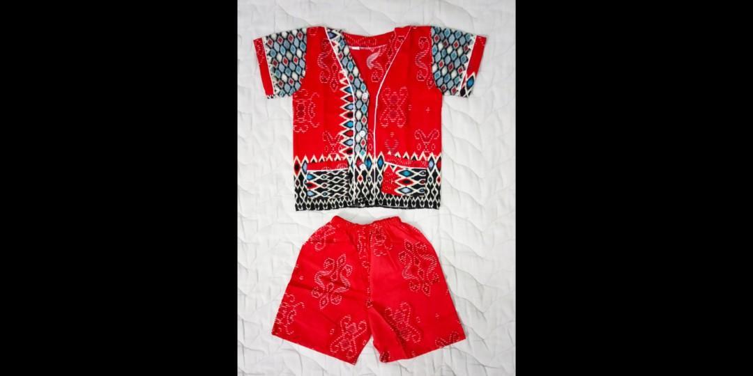Set Piyama Anak Motif Batik Size 3-12M